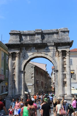 Zlatna Vrata -Golden Gates -are the entrance into old-town Pula