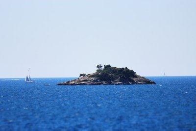 A small island just off the coast from Rovinj