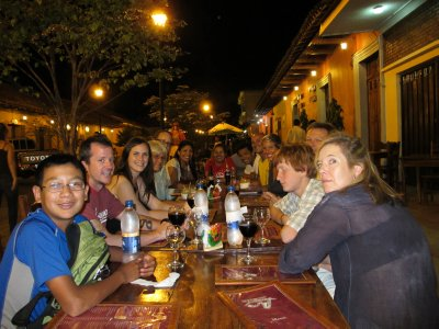 Out for dinner in Granada