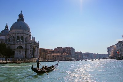 Gondolier and the Grand Canal