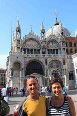 Andrew and Mom in the Piazza San Marco