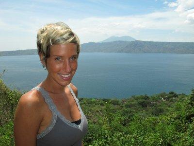 Ana at the crater lake