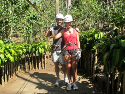 All geared up for zip-lining