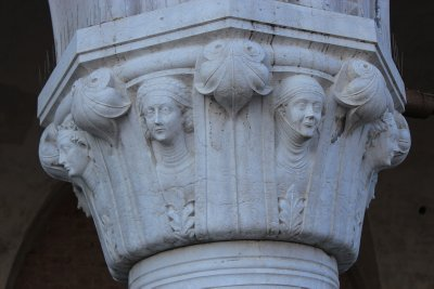 Detail of a column of the Ducal Palace -each column is differently carved