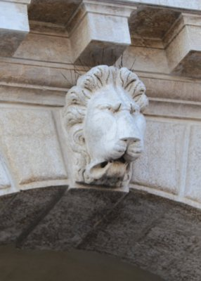 The lion, a Venetian symbol, adorns the Ducal Palace