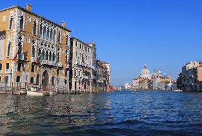Large palaces line the Grand Canal, seemingly floating on water