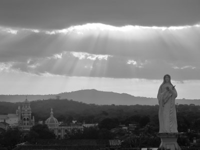 Mary looking out over Granada