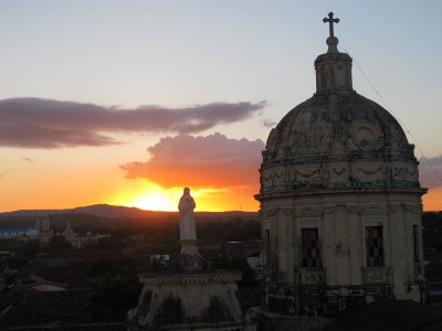 A sunset from the bell tower