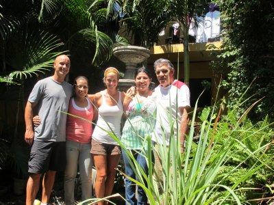 The lovely hosts of Hotel Valeria -Eva, Valeria and Franco