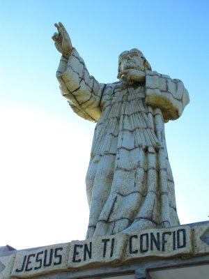 The 50 ft Jesus statue