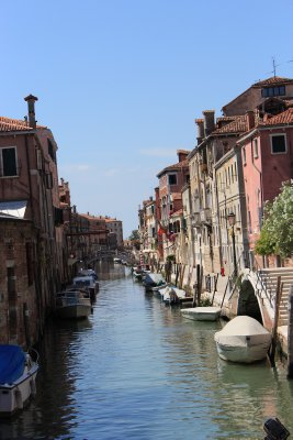 One of many beautiful canals in Venice