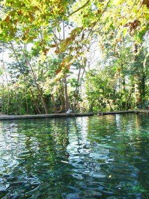The volcanic water of Ojo de Agua