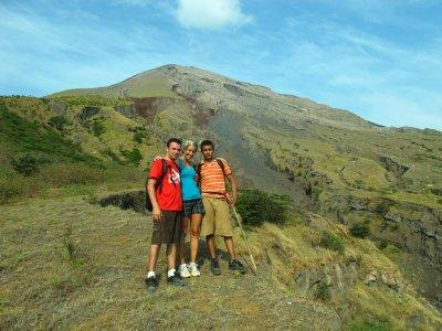 Jacob, Ana and Jonathan, hiking Volcán Concepción