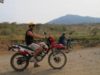 Andrew and Jacob riding around Ometepe