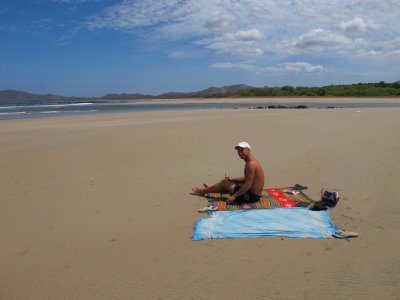 Long beaches all to ourselves if you walk far enough in Tamarindo