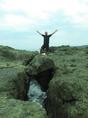 Andrew, on middle ground in Montezuma