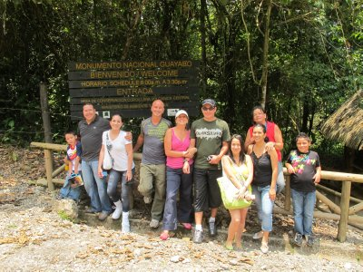 Hellen, her family and friends, all taking us out for a tour of Guayabo National Park