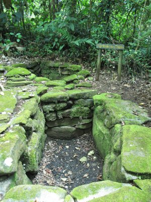 A tomb in Guayabo National Park