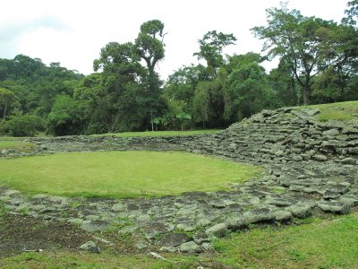 The site where Mayan's set up temporary camps