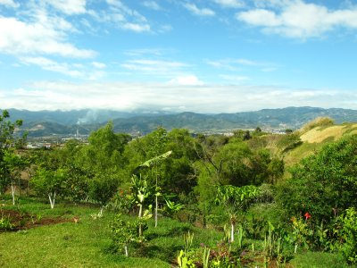 The beautiful view of Cartago from Yamileth's backyard