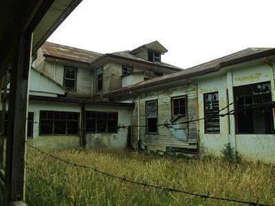 The abandoned haunted house -It started as a jail, was turned into a hospital for people with TB and then ended up as a mental hospital.  Local youth visit it for a scare and a laugh