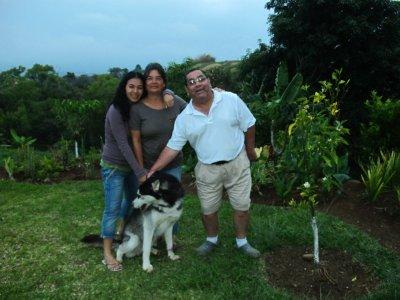 Hellen, her parents and their Siberian Husky -Max