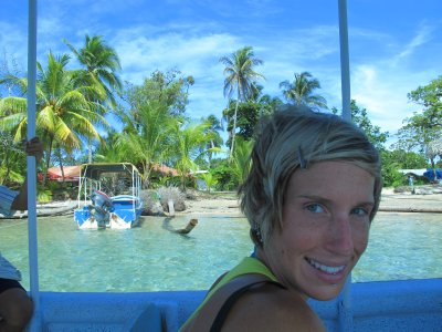 Ana heading to Playa Bocas del Drago