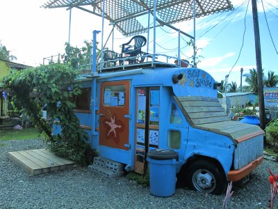 Good food served at this bus turned wrap restaurant