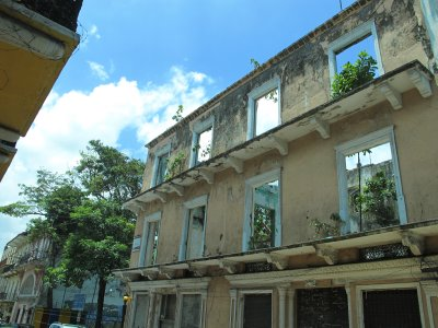 Only facades remain for many of the buildings in Casco Viejo