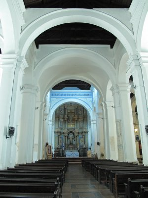 Large arches in an old church in Old Town Panama