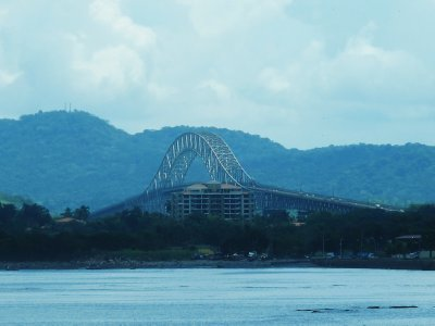 The Bridge of the Americas which crosses the Panama Canal