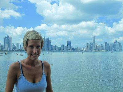 Ana walking around Panama City