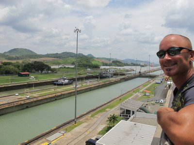Andrew at the Panama Canal