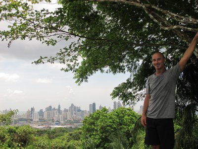 Andrew overlooking Panama City in the Parque Natural Metropolitano