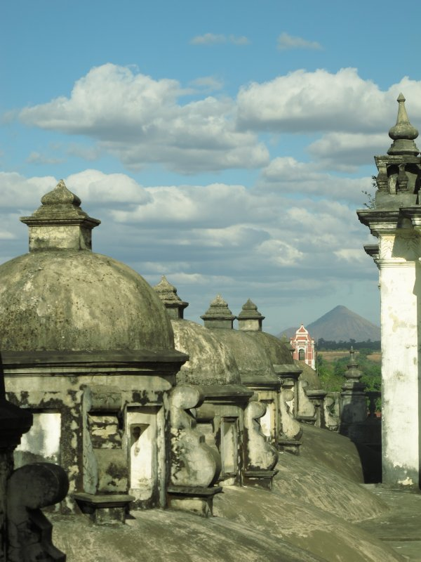 The roof of Leon's large cathedral