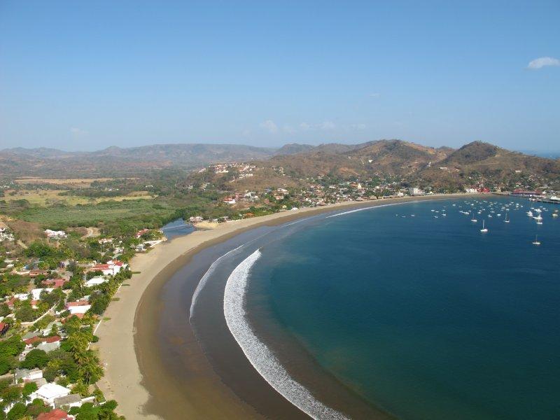 The horseshoe shaped bay of San Juan del Sur
