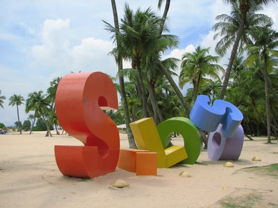 The artificial beach of Sentosa Island - Singapore