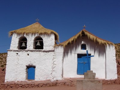 Village church in the Atacama desert