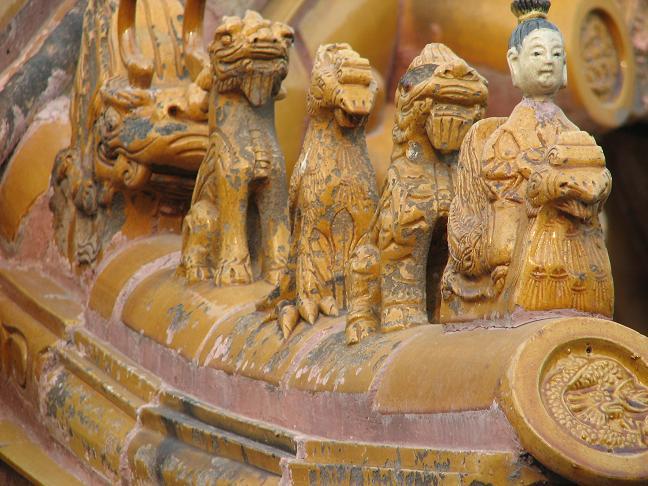 Temple roof detail - Beijing