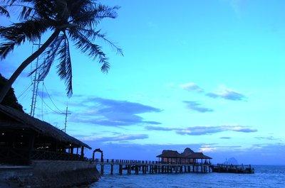 Koh Ngai Resort at sunset