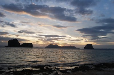 Sunset at Andaman Sea from Koh Ngai