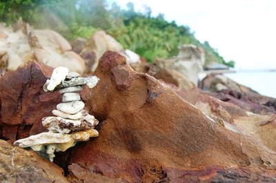 Amazing small stone formation in Koh Ngai