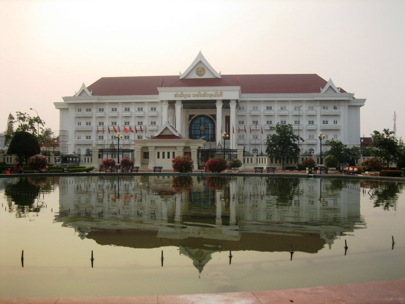 The Lao Prime Minister's Office in Vientiane
