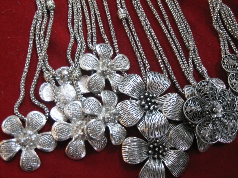 Silver trinkets at the Mekong night market