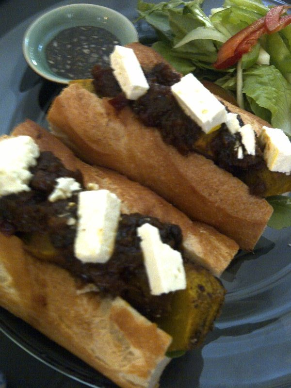 Staple food includes French-style baguette stuffed with an assortment of fillings.