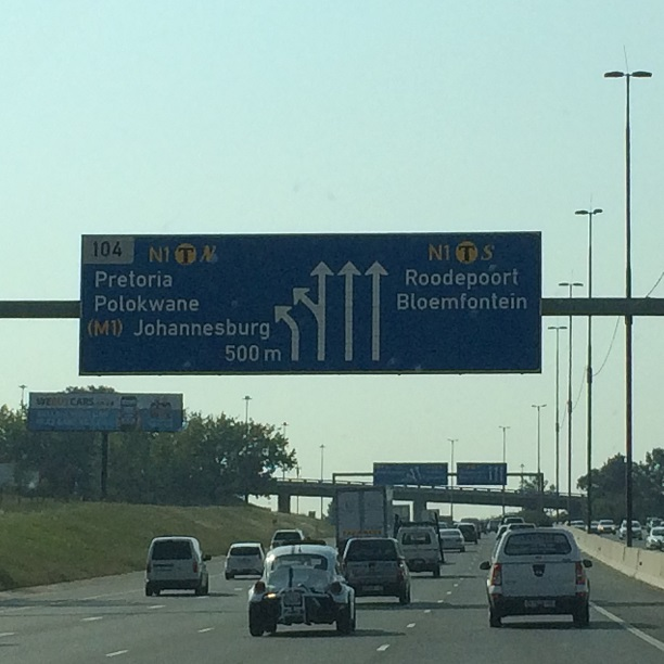 The Johannesburg traffic rolls as a warm welcome