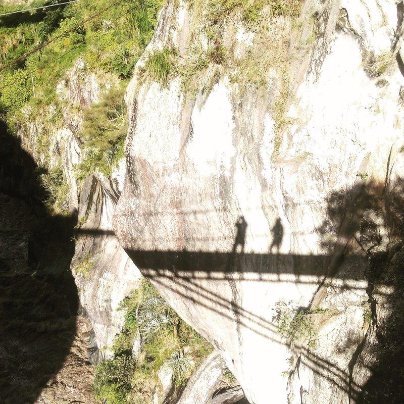 Shadows on a bridge