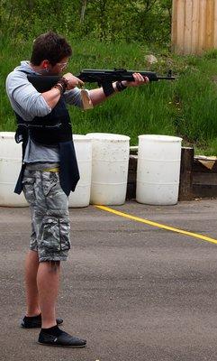 Firing the rifle