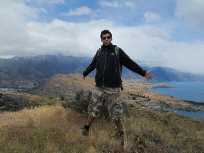 At the top of Queenstown Hill