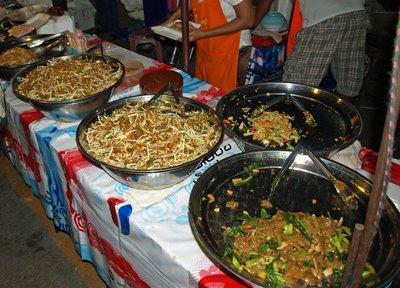 Assorted foods on the nightmarket